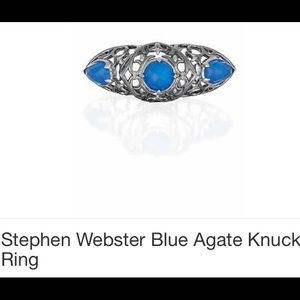 Luxury Ster Silver Stephen Webster knuckle ring